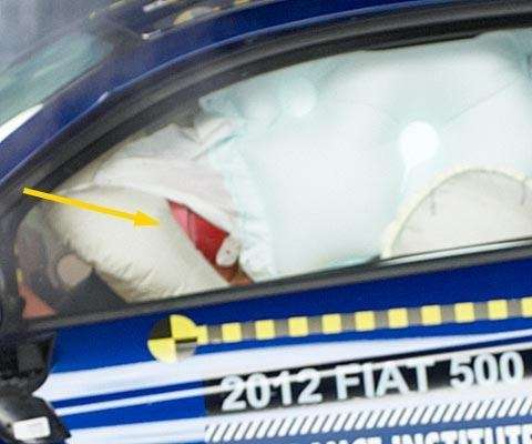 fiat 500 top safety pic iihs - airbag