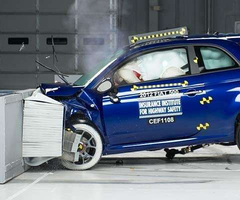 fiat 500 top safety pic iihs - frontale