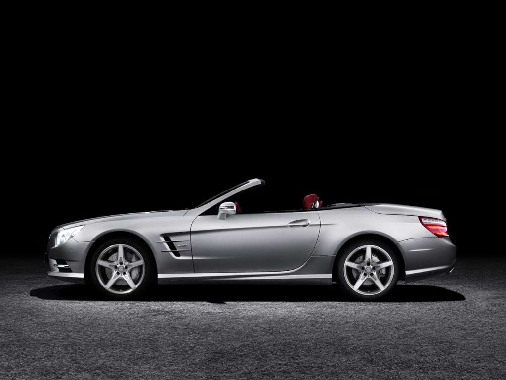 Mercedes Benz SL 2012, grigia laterale