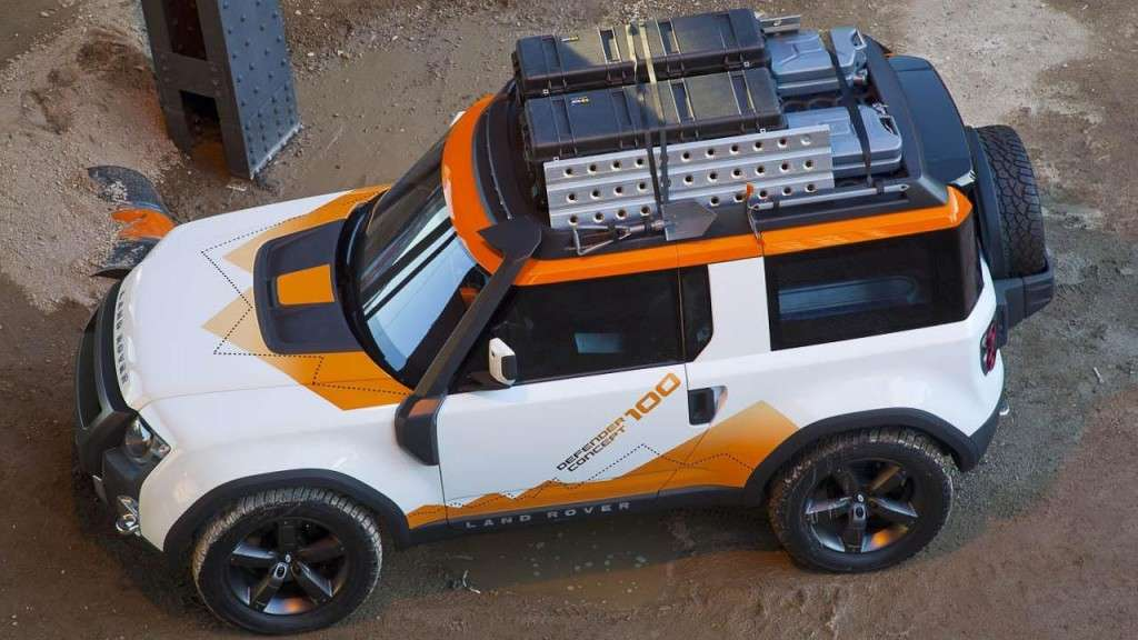 Land Rover DC100 Expedition - dall'alto