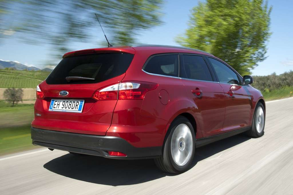 Ford Focus ECOnetic SW, vista posteriore