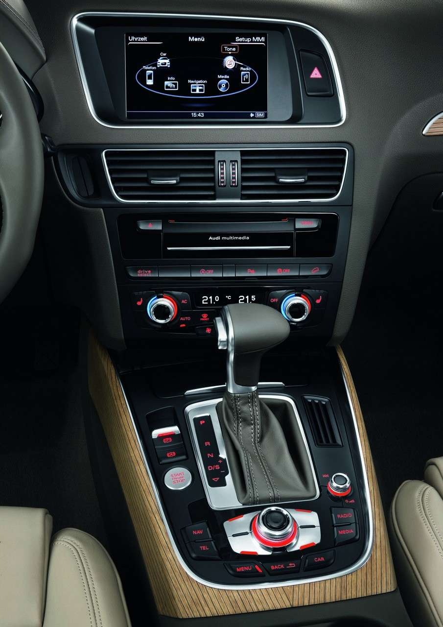 Audi Q5 MY 2013 restyling console centrale