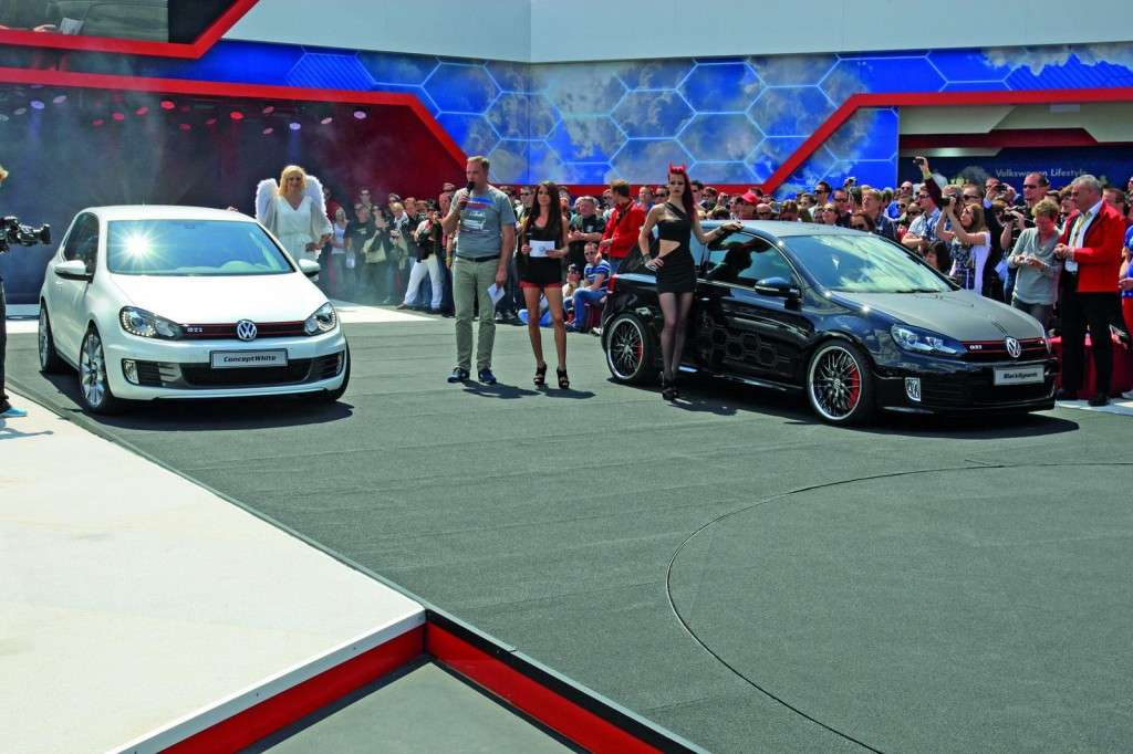 Volkswagen Golf GTI Concept White e Black Dynamic