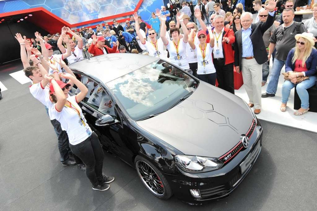 Volkswagen Golf GTI Black Dynamic vista dall'alto