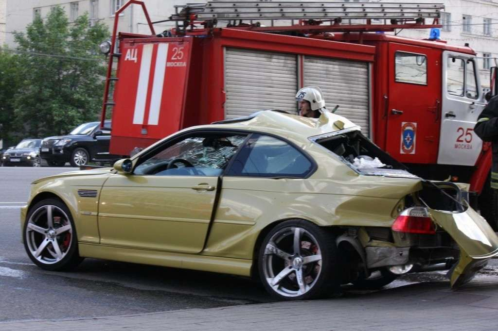 BMW M3 e46 incidente