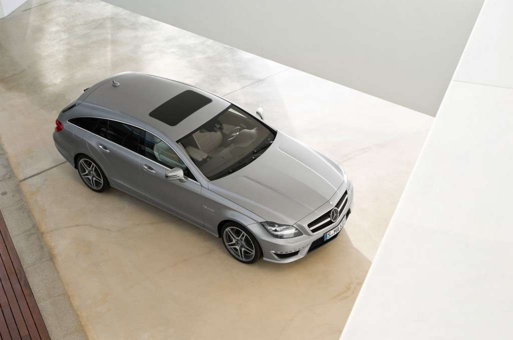 Mercedes CLS 63 AMG Shooting Brake frontale
