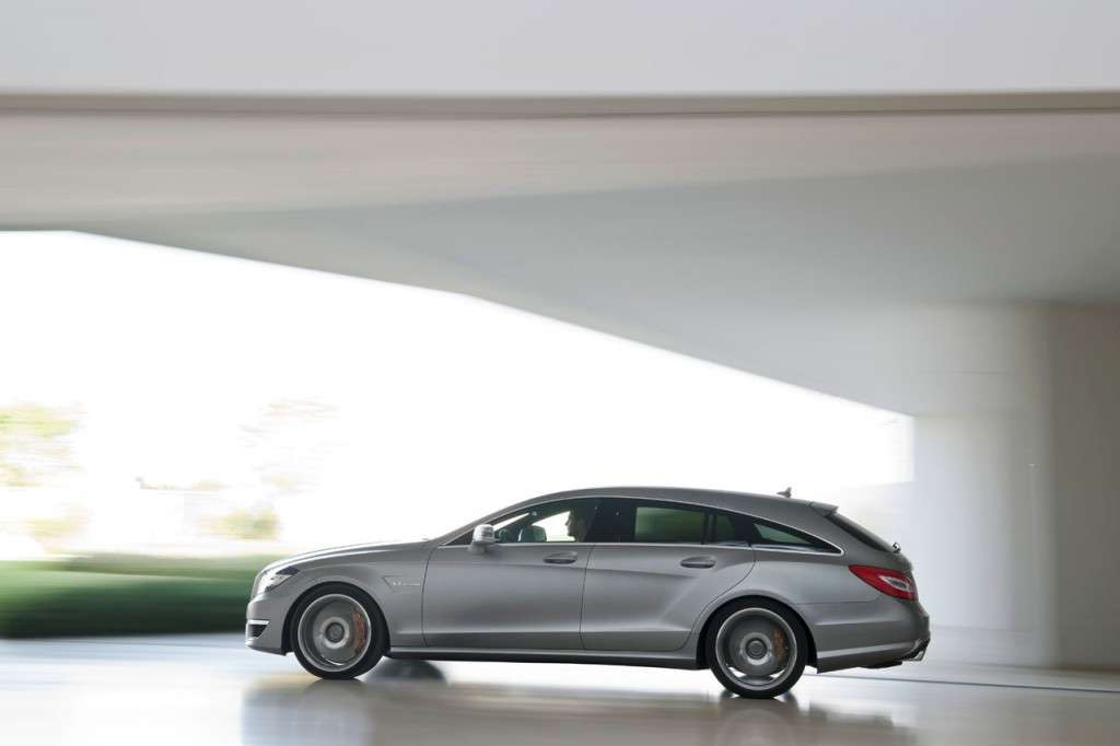Mercedes CLS 63 AMG Shooting Brake fiancata
