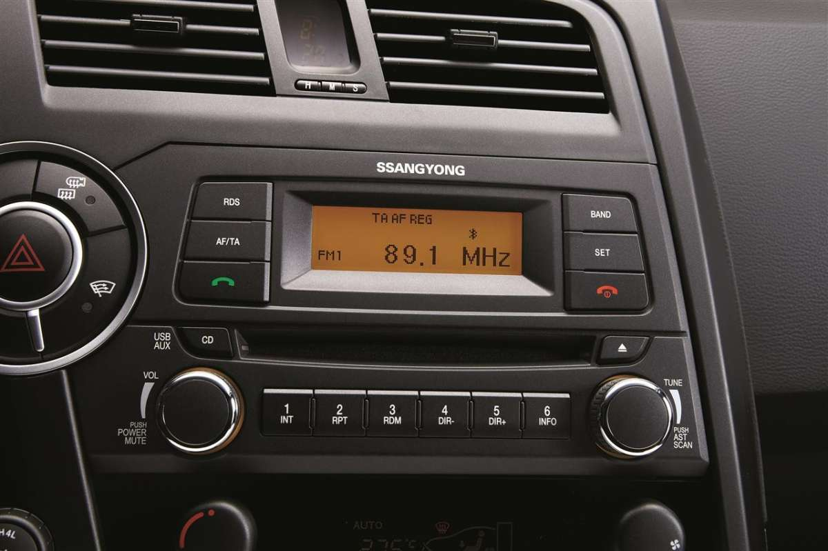 SsangYong Actyon Sports 2012 autoradio