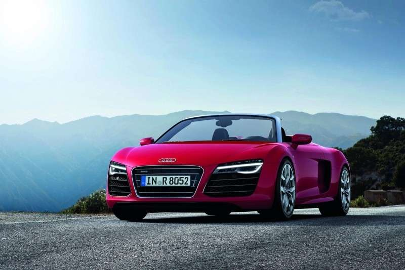 Audi R8 2012 spider, frontale