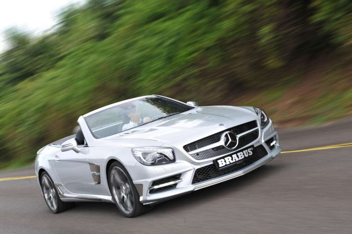 Mercedes SL by Brabus 2013-3/4 anteriore destro in movimento