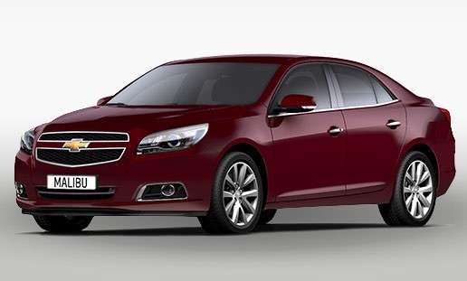 Chevrolet Malibu 2013 morello red