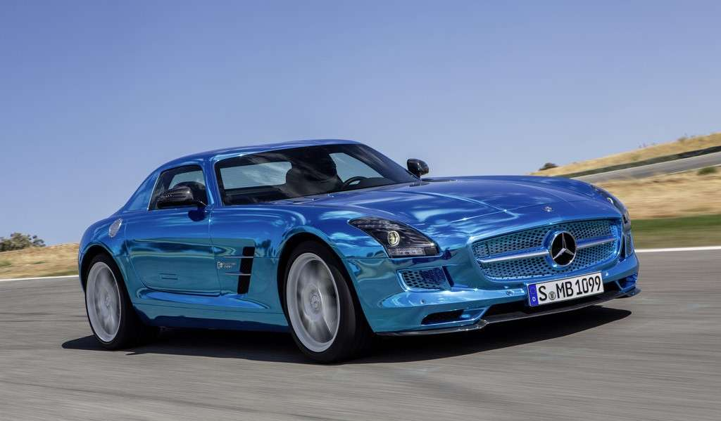 Mercedes SLS Amg Electric Drive, frontale