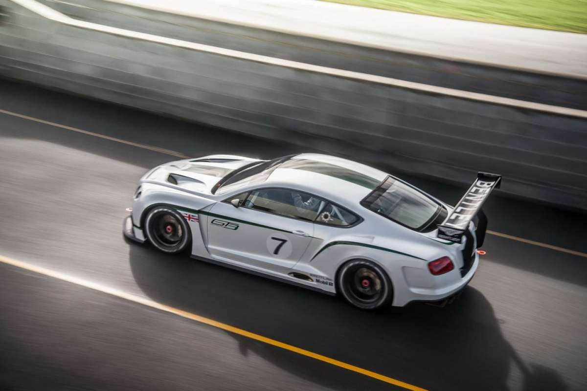 Bentley Continental GT3 Concept - dall'alto