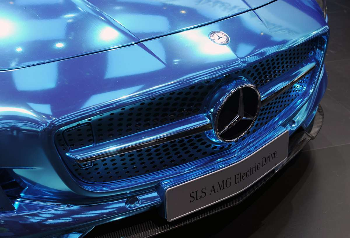 Mercedes SLS Amg Electric Drive, Salone di Parigi 2012 (8)