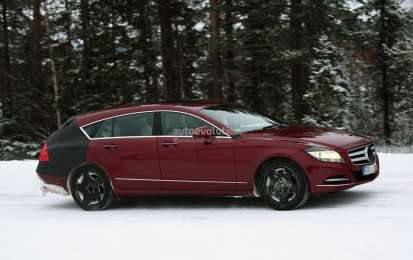 Mercedes CLS Shooting Brake, nuove foto spia sulla neve
