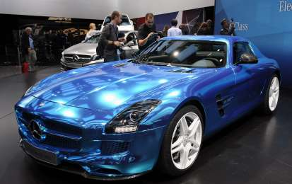 Mercedes SLS Amg Electric Drive a Parigi 2012