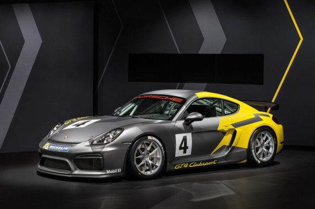 Porsche Cayman GT4 Clubsport al Salone di Los Angeles 2015