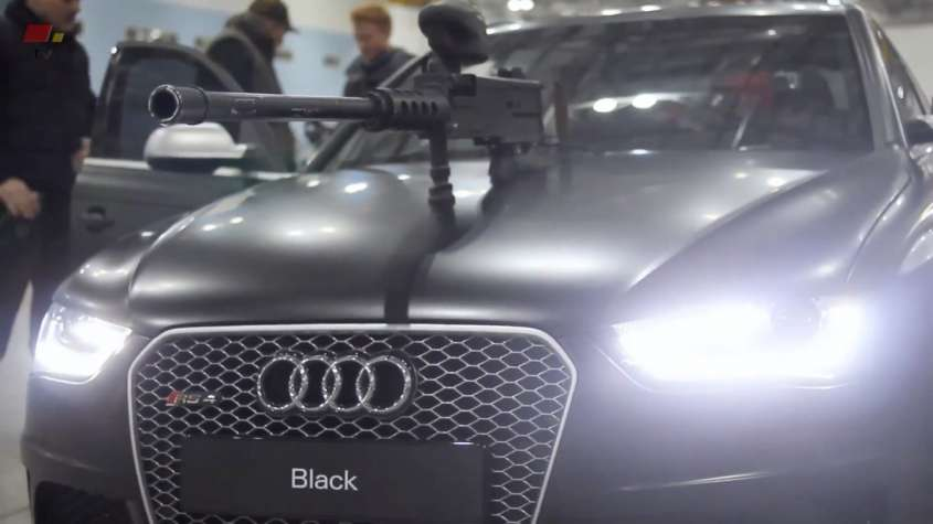 Audi RS4 paintball, foto