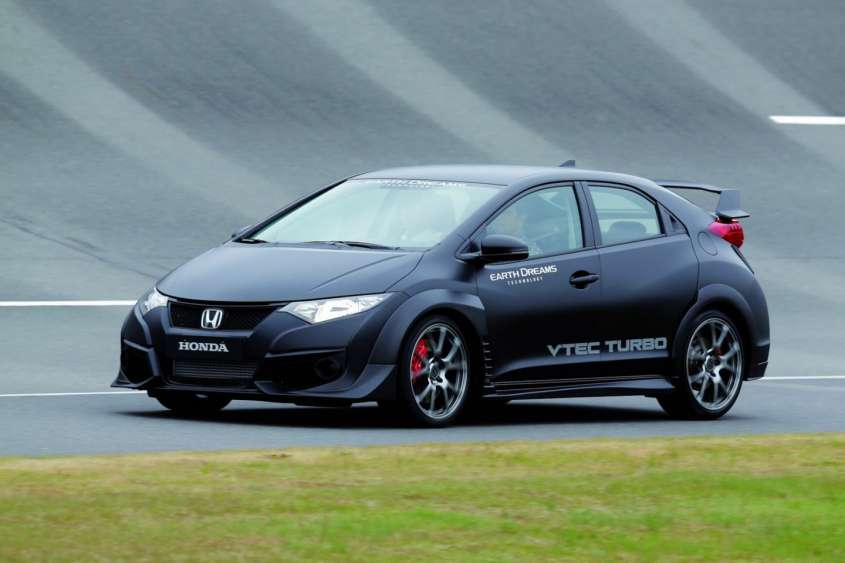 Honda Civic Type R VTEC Turbo, foto del prototipo