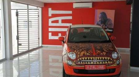 Fiat 500 Italian Woman, art car per il Mozambico