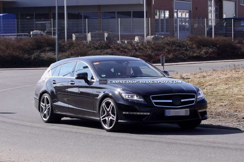 Foto spia Mercedes CLS 63 AMG Shooting Brake