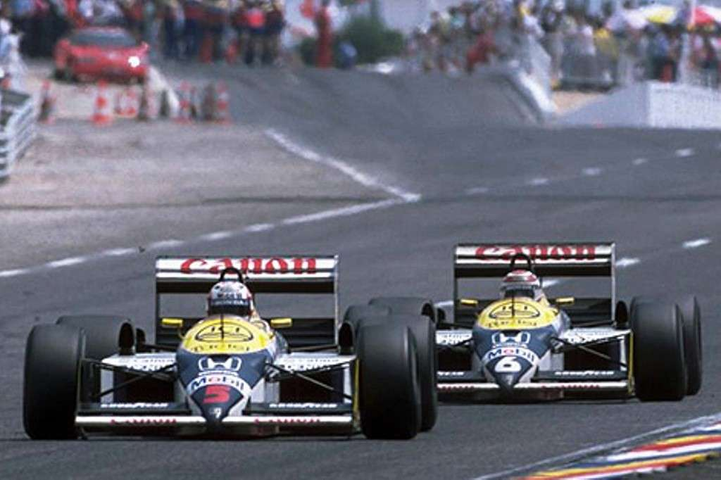 Piquet e Mansell in pista