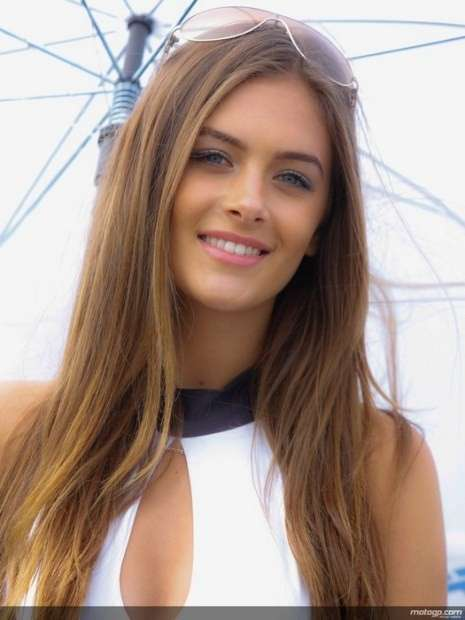 Umbrella girl Silverstone MotoGP 2014