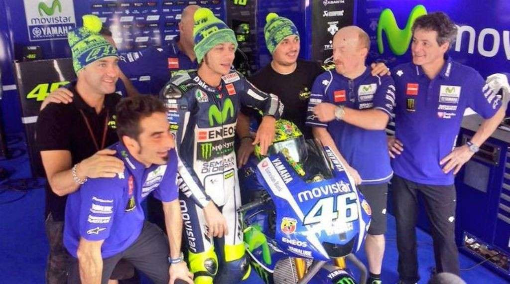 Test Sepang Day1, Valentino Rossi e il team