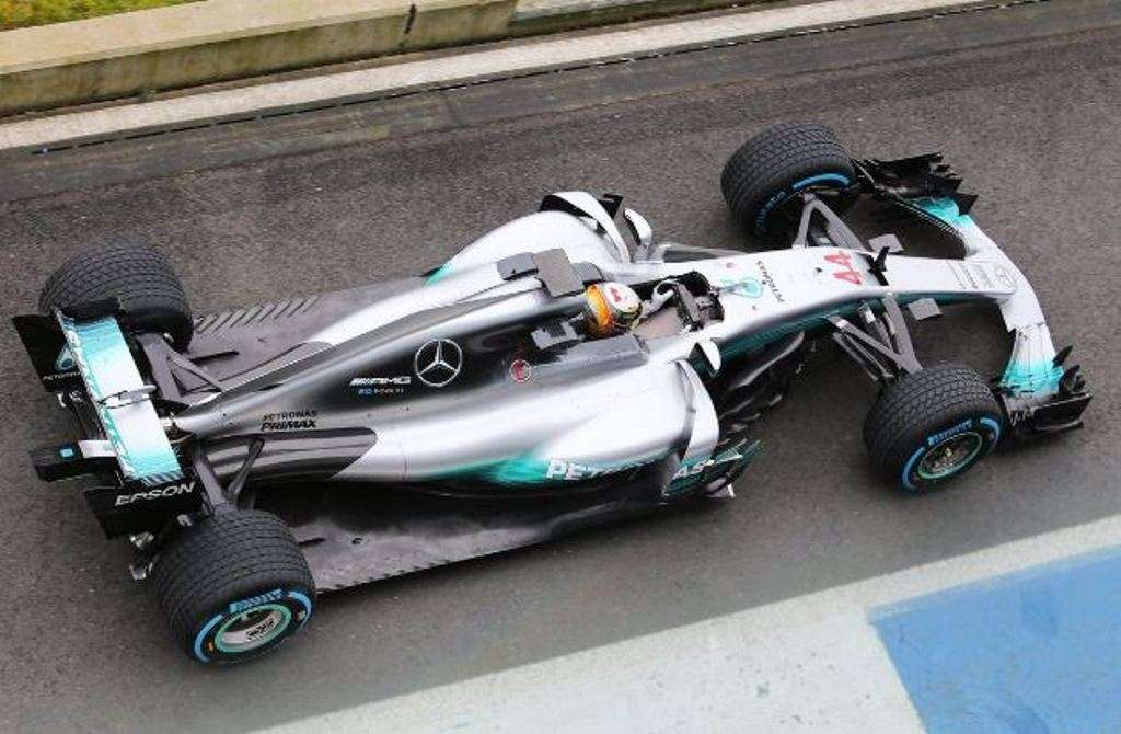 Nuova Mercedes F1 2017, filming day