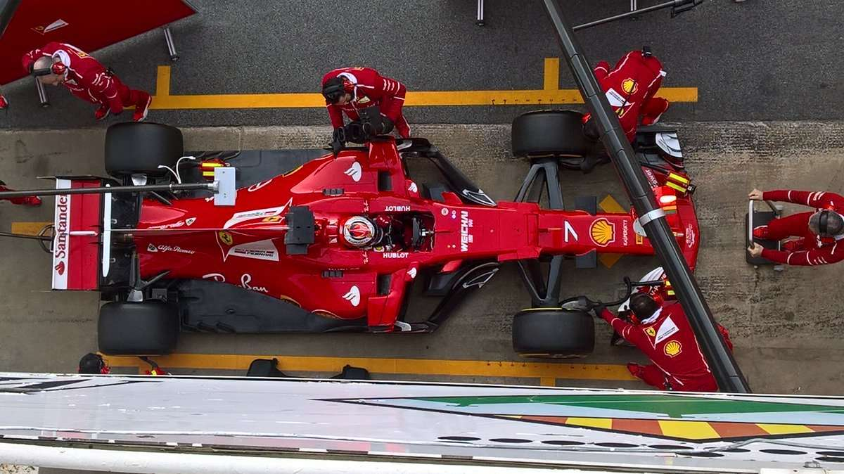 Test Barcellona F1 2017, pit stop