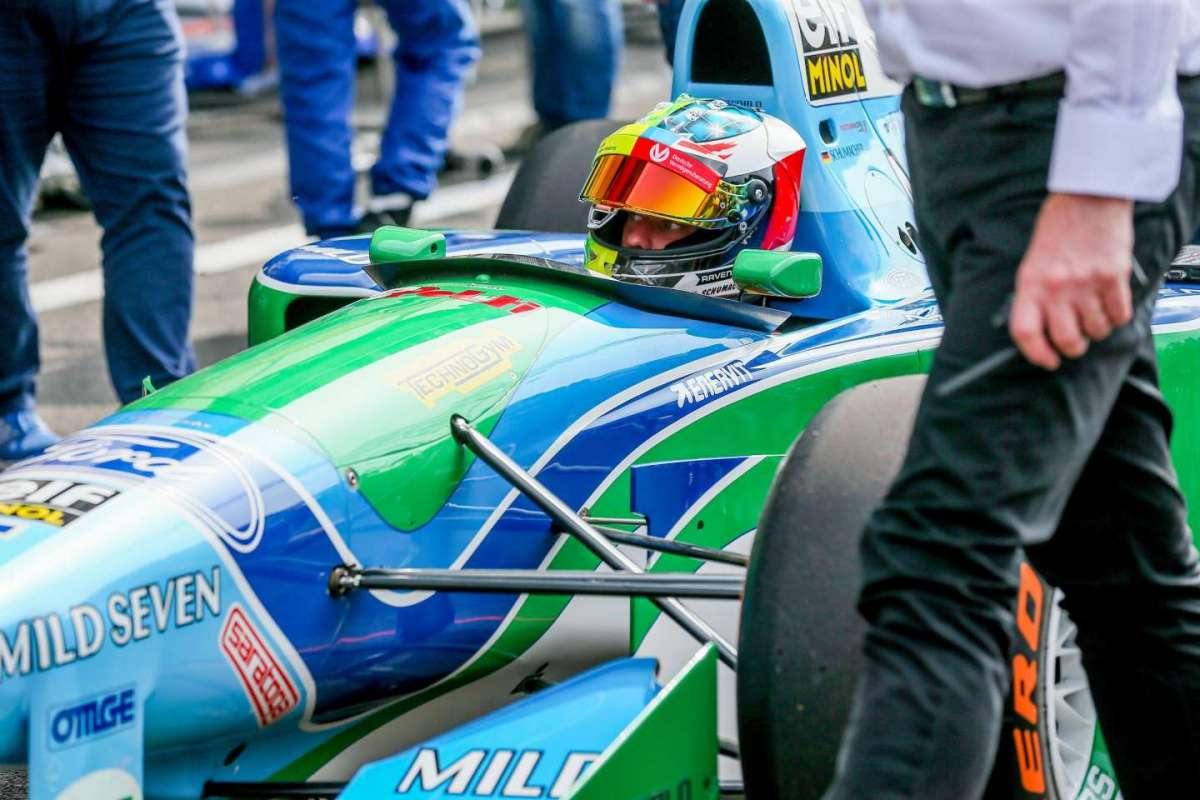 Mick Schumacher in pista al GP Belgio 2017
