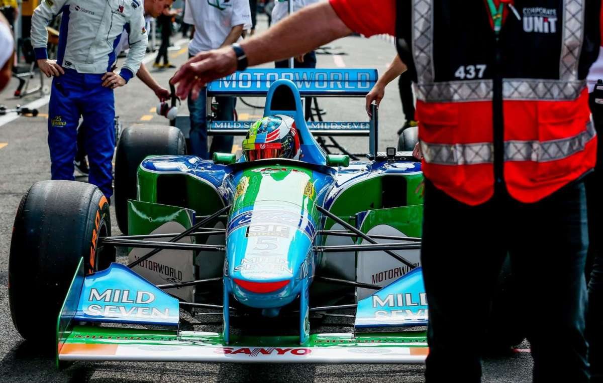 Schumacher JR sulla Benetton di Michael