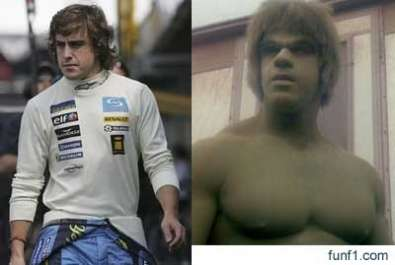 Fernando Alonso e Incredibile Hulk