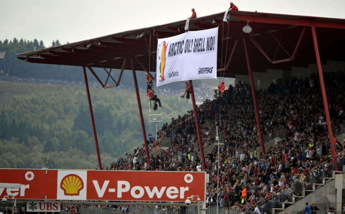 La protesta di Greenpeace a Spa-Francorchamps (7)