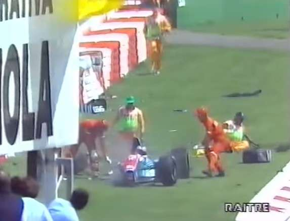incidente Barrichello Imola 1994