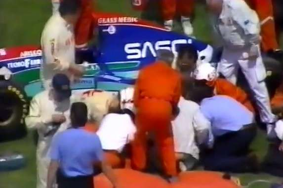incidente Barrichello Imola 1994 -10