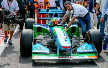 Schumacher JR guida la Benetton di Michael a Spa