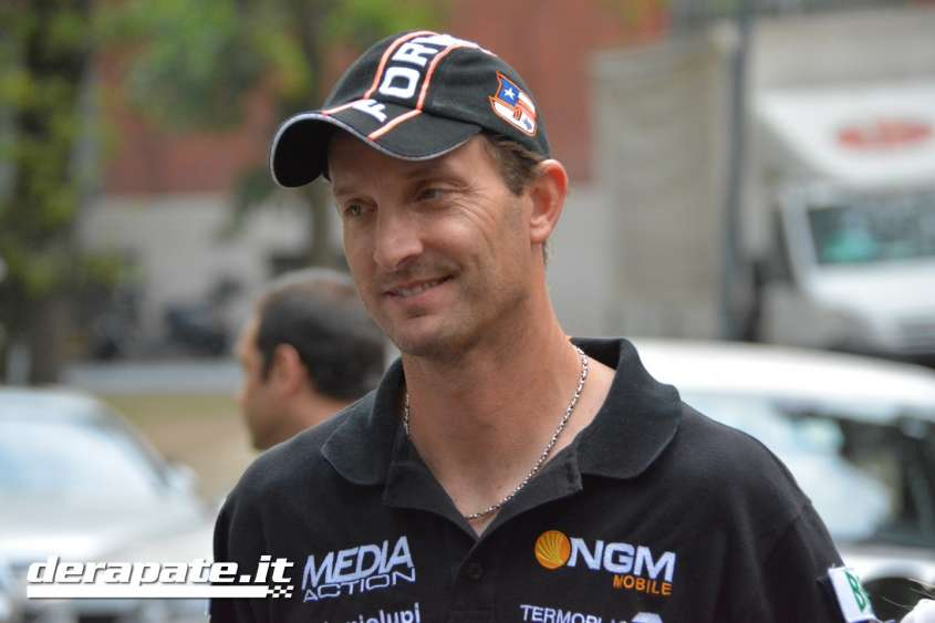 Colin Edwards e Claudio Corti team NGM Forward MotoGP