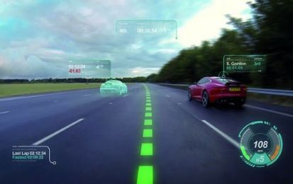 Jaguar Virtual Windscreen, il parabrezza del futuro con realtà aumentata [VIDEO]
