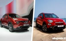 Fiat 500X vs Nissan Juke: confronto tra crossover compatti [FOTO e VIDEO]