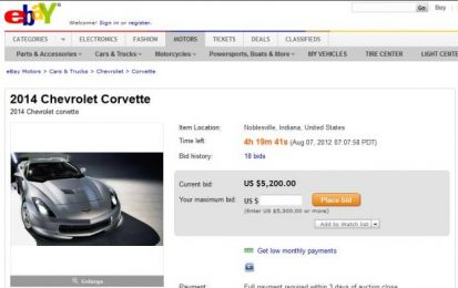 Chevrolet Corvette C7 2014: in vendita su eBay!