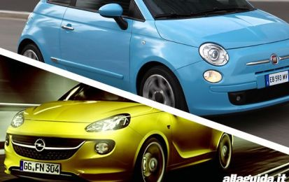 Fiat 500 vs Opel Adam: confronto tra citycar chic [FOTO e VIDEO]