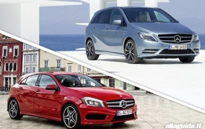 Mercedes Classe A vs Mercedes Classe B: confronto in casa, tutto tedesco [FOTO]