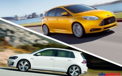 Volkswagen Golf 7 GTI vs Ford Focus ST: hot hatch a confronto [FOTO]