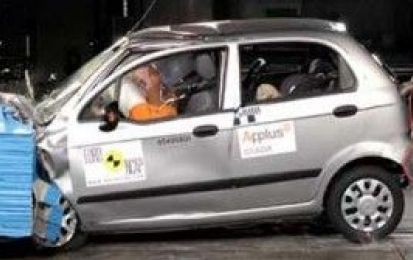 Daewoo Matiz delude al crash-test