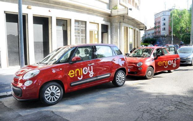 CAR SHARING DI ENJOY, CON AUTO 500L