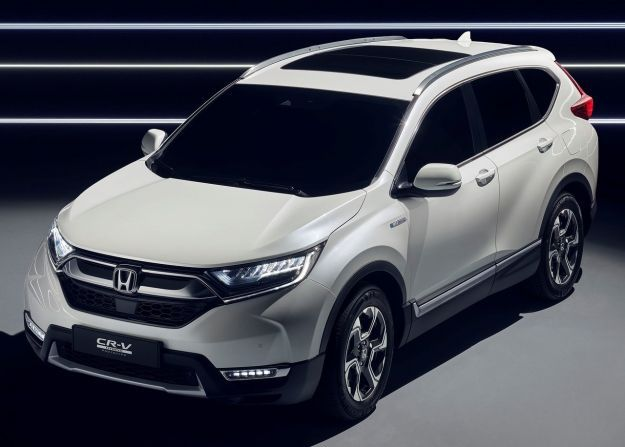 honda cr v hybrid prototype il nuovo suv giapponese 2018 in veste ibrida foto allaguida. Black Bedroom Furniture Sets. Home Design Ideas