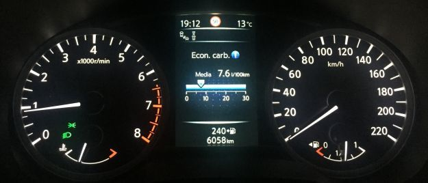 Nissan Micra 2017 cluster