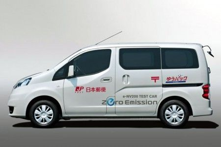 Nissan e-NV200, via ai test in Giappone