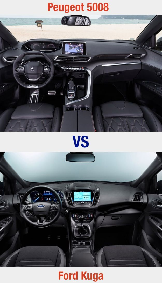 Peugeot 5008 vs Ford Kuga interni